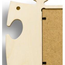 Puzzle-Rahmen für Fotos in 10x25 cm - Rückseite