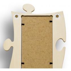 Puzzle-Bilderrahmen-Galerie für insgesamt 5 Fotos verschiedener Größen und Formen - Rückseite
