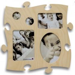 Puzzle Bilderrahmen Fotorahmen aus Holz in Puzzleform für verschiedene Fotoformate