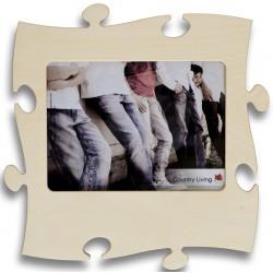 Puzzle Bilderrahmen für Fotos in Puzzleform aus Schichtholz